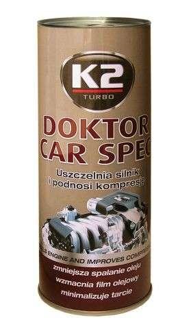 K2 DOKTOR CAR SPEC 443 ml - aditivum do oleje (synt. reduktor tření ZineDithioPhosPhate)