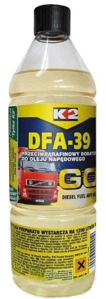 K2 DFA-39 DIESEL - 500 ML - přípravek proti zamrzání palivové soustavy