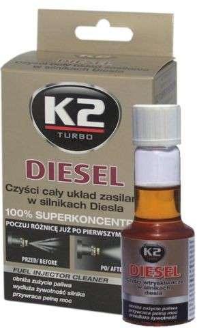 K2 TURBO DIESEL 50 ML- aditivum do paliva (obnov. výkon motoru, snižuje emisní hodnoty