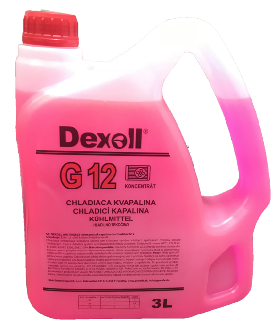Antifreeze G12 3L DEXOL - EXPEDICE do 48 hodin.